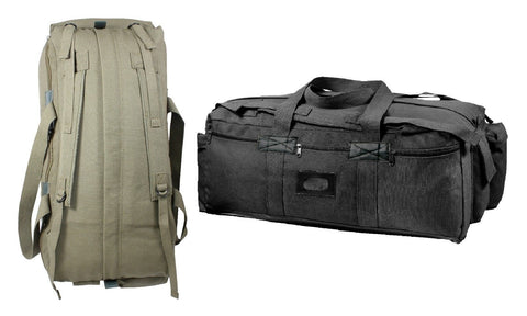 Tactical Duffle Bags - Mossad Style Canvas Gear Equipment Bag Backpack Packs