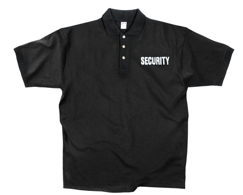 Black 'Security' Shirt - Black Moisture Wicking SECURITY Polo Summer Shirt S-4XL