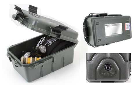Survivor Dry Box - Durable Plastic Dry Box - Olive Drab DryBox - Made in USA