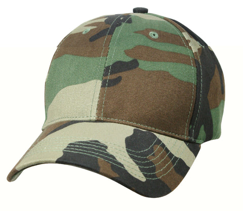 Kids Low Profile Baseball Hats - Caps Available In Woodland Camo And ACU Digital