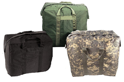 Military Type Enhanced Aviator Bags Nylon Pilots Flying Bag w/ Snap Flap