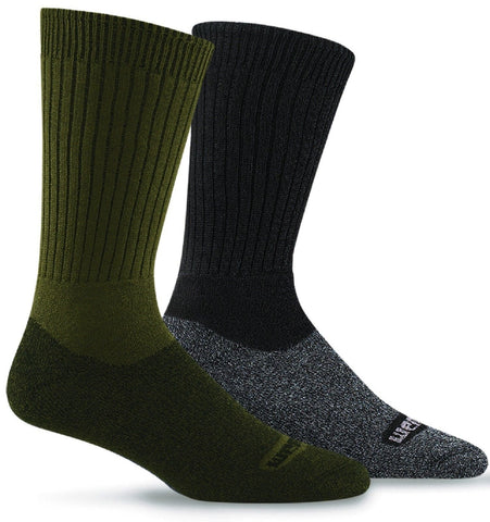 Wigwam CoolMax Moisture Wicking Hiking Socks - Pair - Black Or Olive Drab