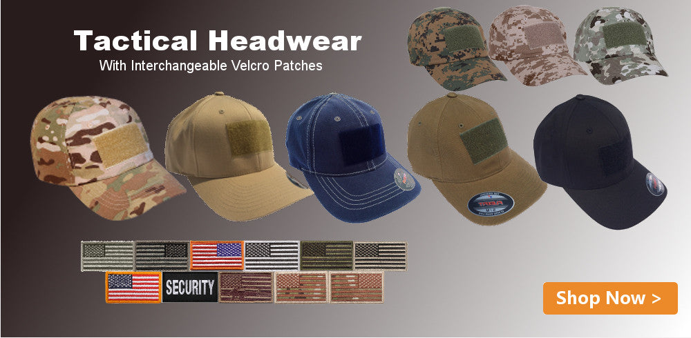 Tactical Hats with Patches