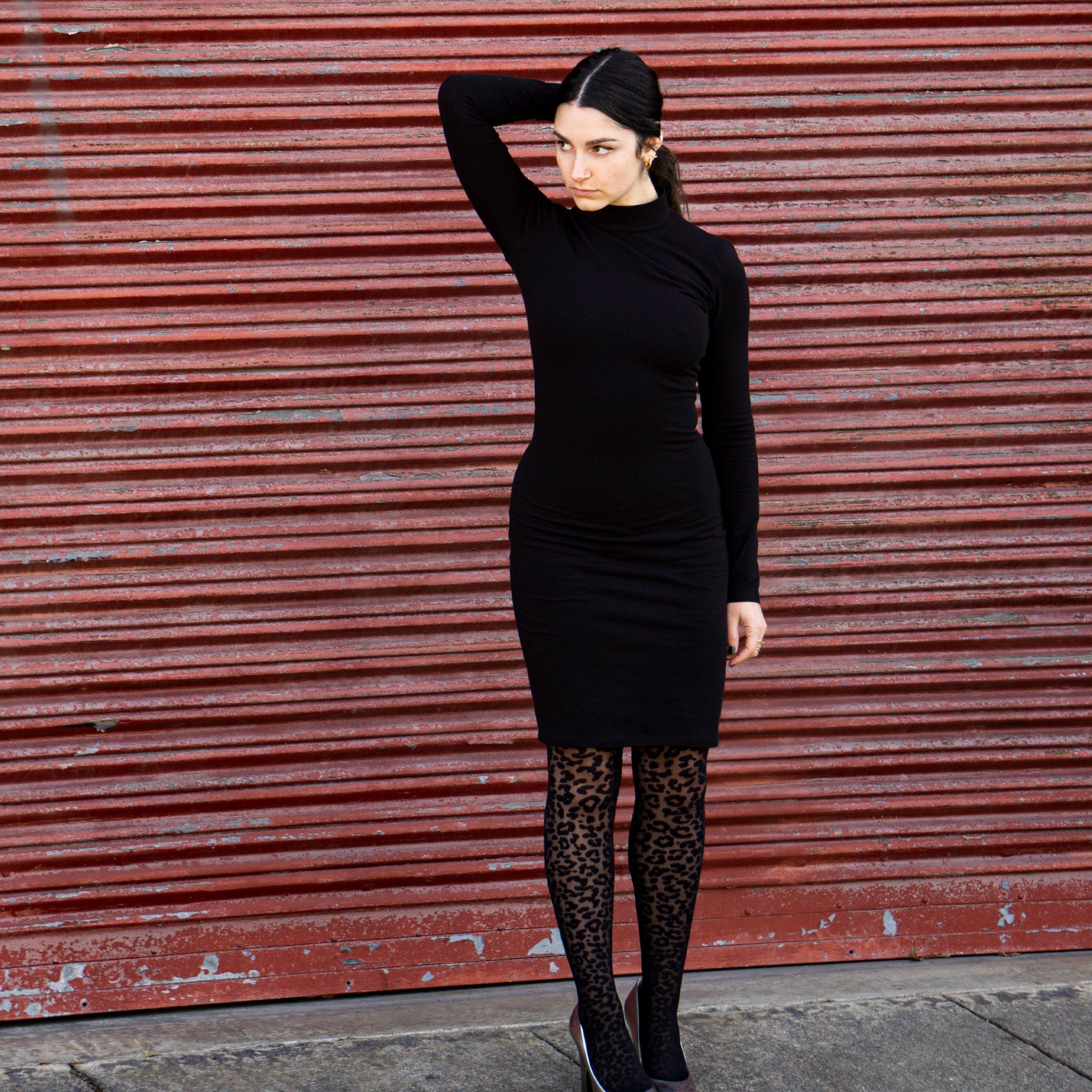 Turtleneck Dress || Classic Black