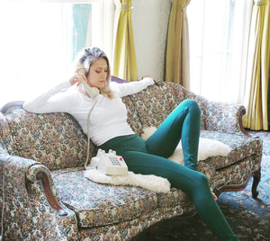Signature Cotton Leggings || Huntress Green
