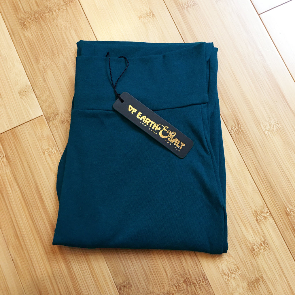 Signature Cotton Legging || Calypso Teal