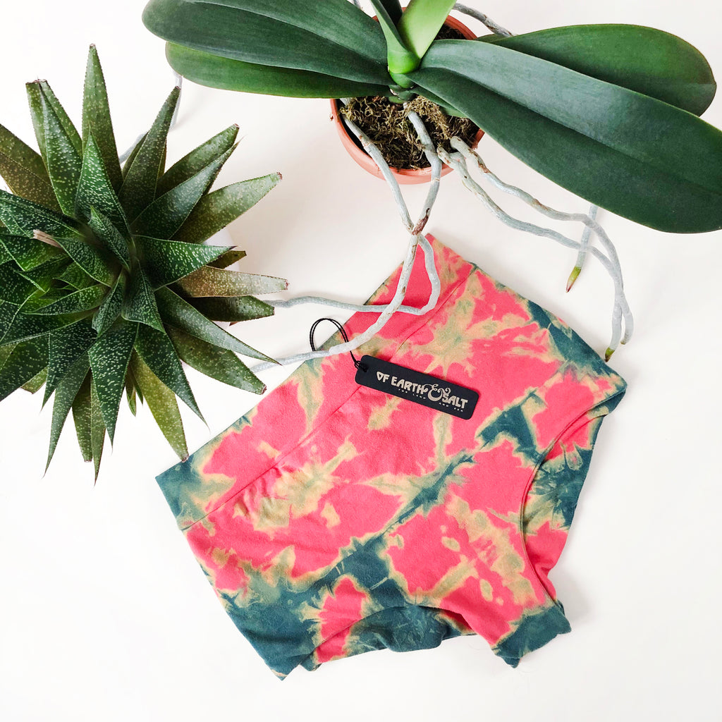 High Waisted Indigo Undies || Shibori Coral