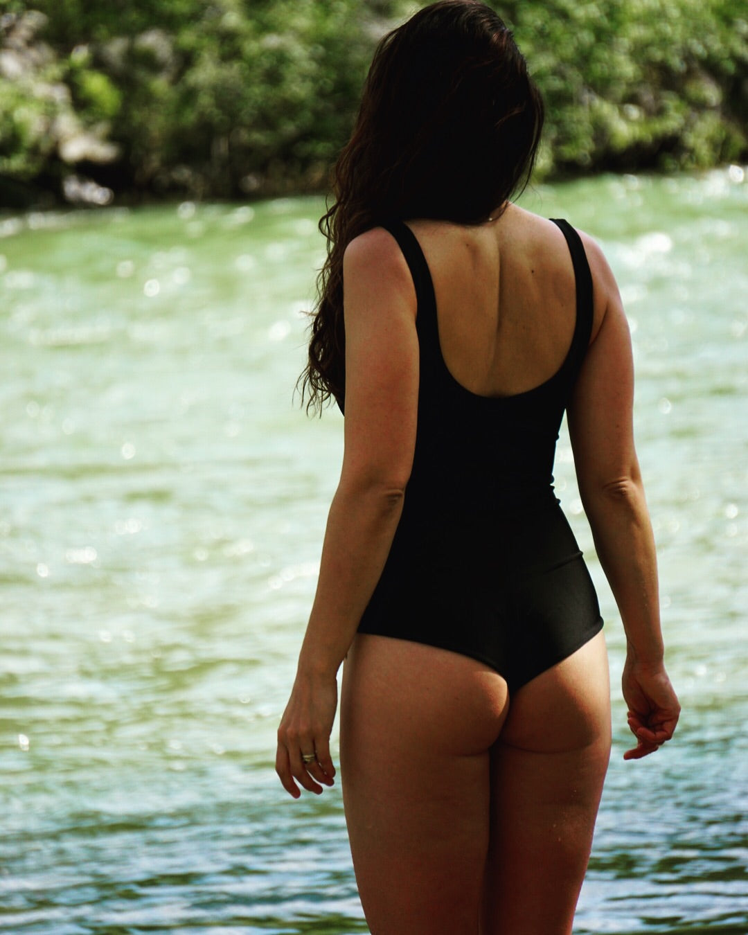 Classic One-Piece Swimsuit || Black