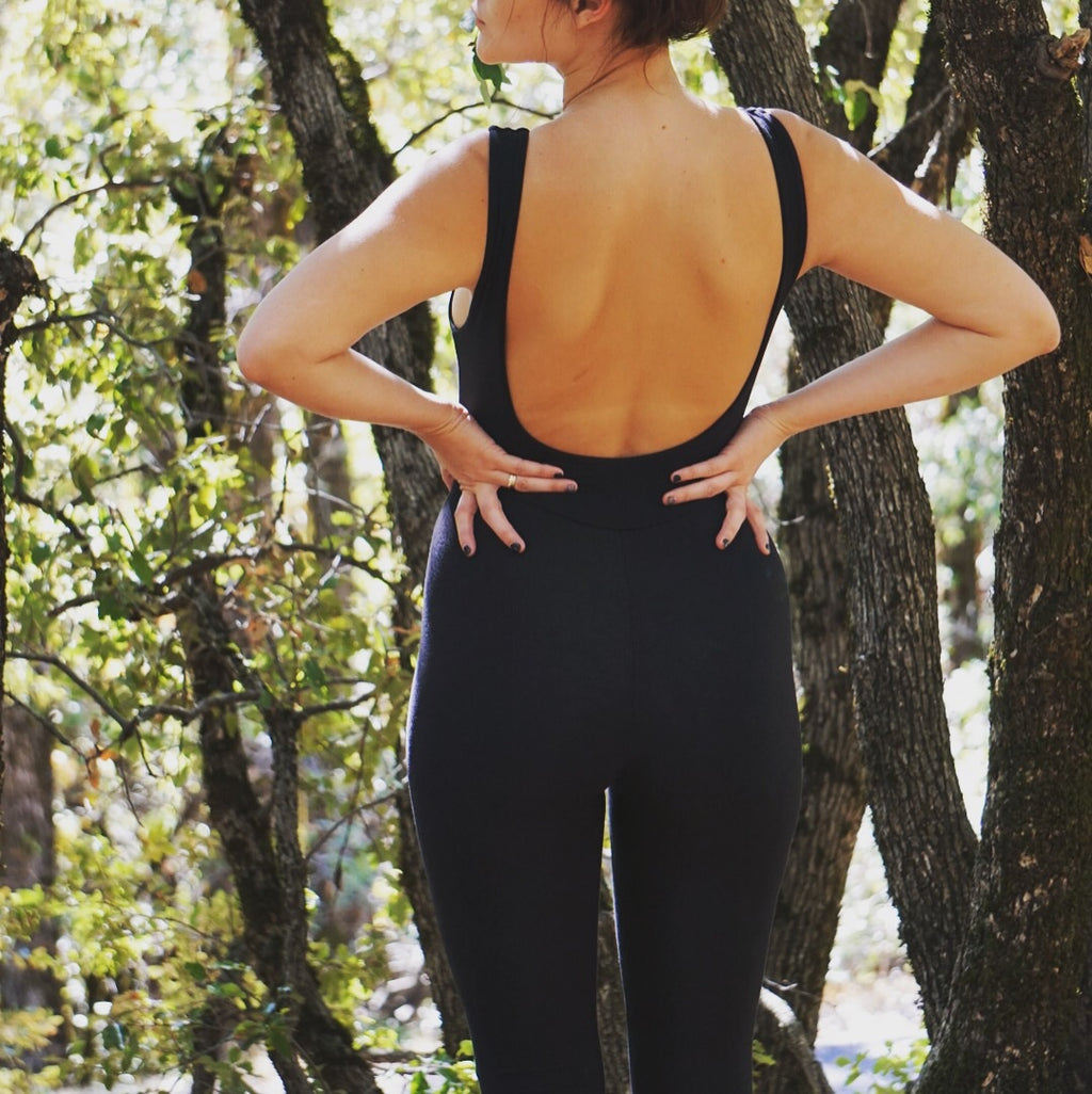 Full Length Black Bodysuit || Organic!