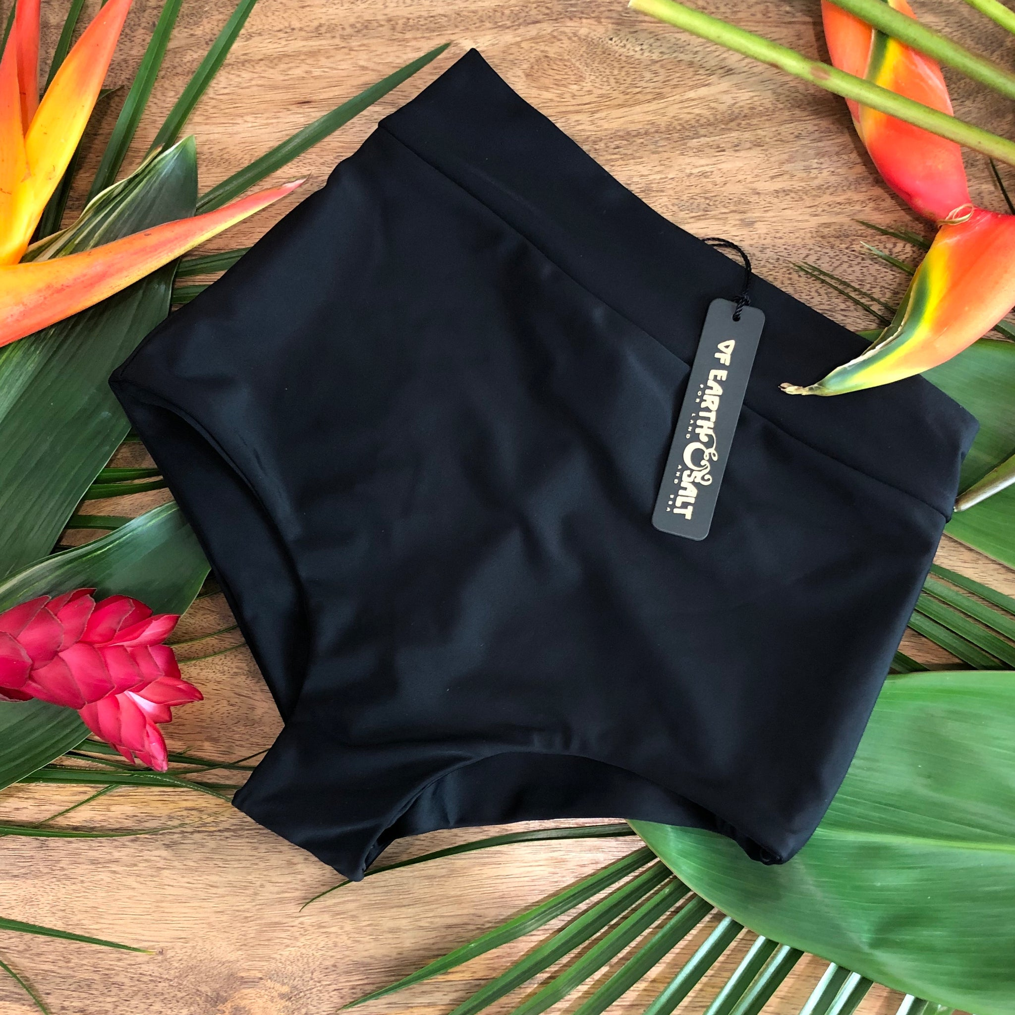 Favorite High Waisted Swim Bottoms || Black