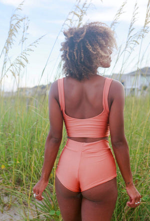 Versatile Crop Tank || COPPER || New Swim!