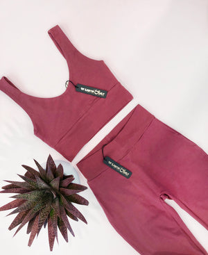 Signature Cotton Legging || Marsala