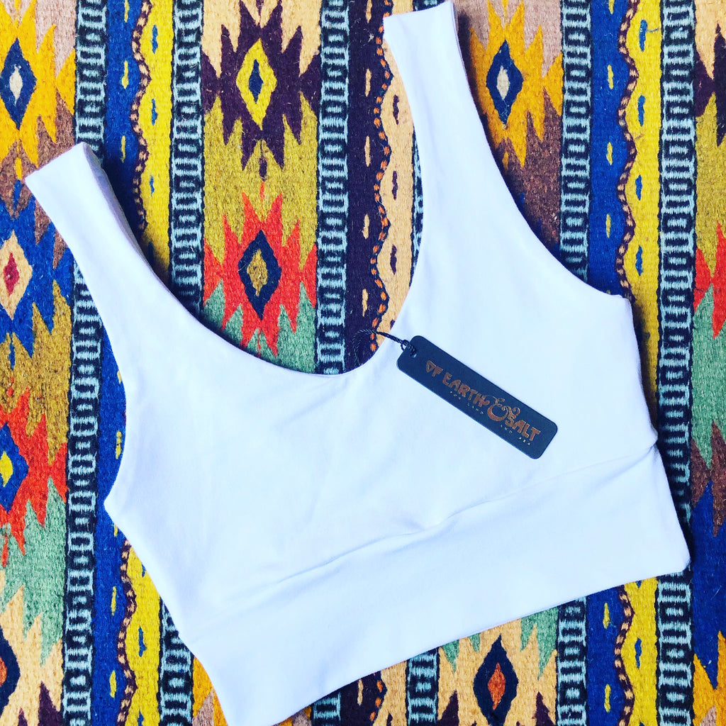 Versatile Crop Tank || Pure White