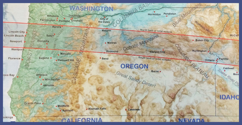 Oregon Eclipse Map 2017.2017 Eclipse Information For Oregon Total Solar Eclipse American