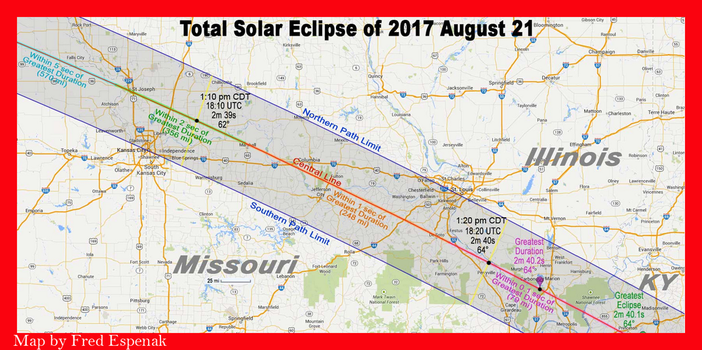 2017 Eclipse Information For Illinois