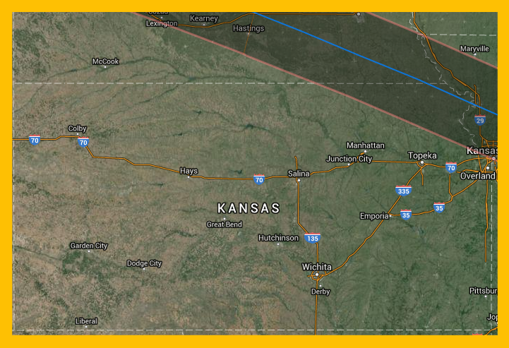 2017 Eclipse Map Kansas.2017 Eclipse Information For Kansas