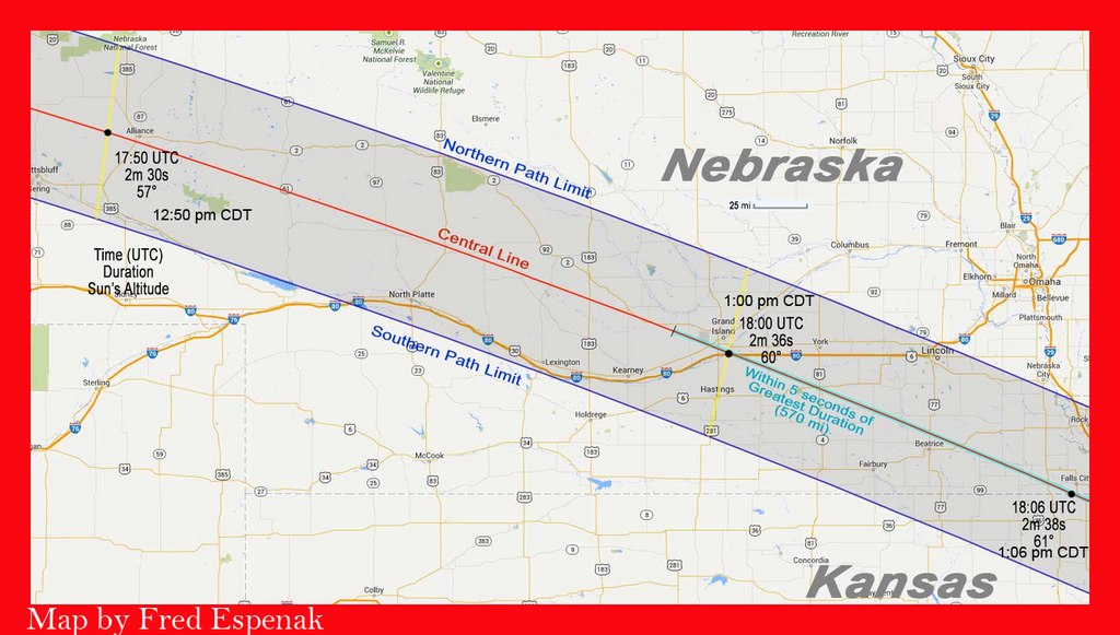2017 Eclipse Information for Nebraska