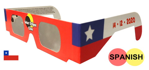 Chile Red Flag Eclipse Glasses