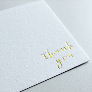 Gold Foil Stationery