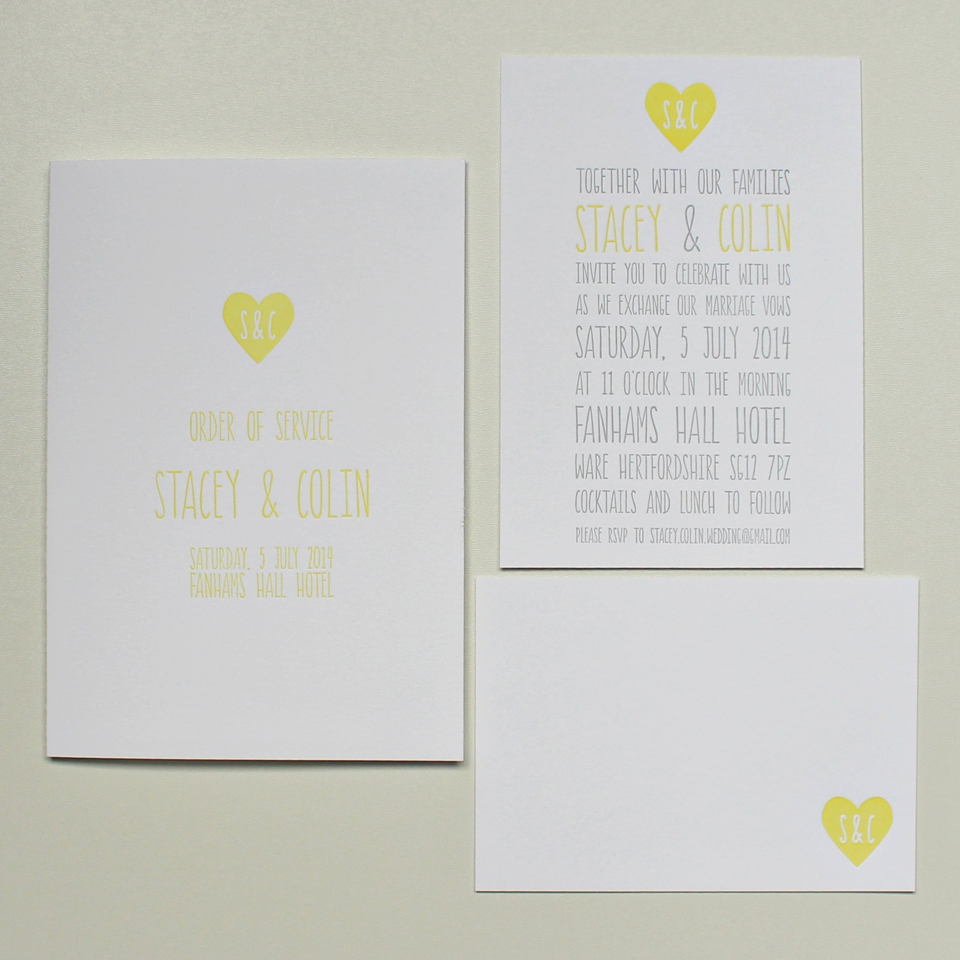 Cerulean Press - Couple's Heart Invitation Suite
