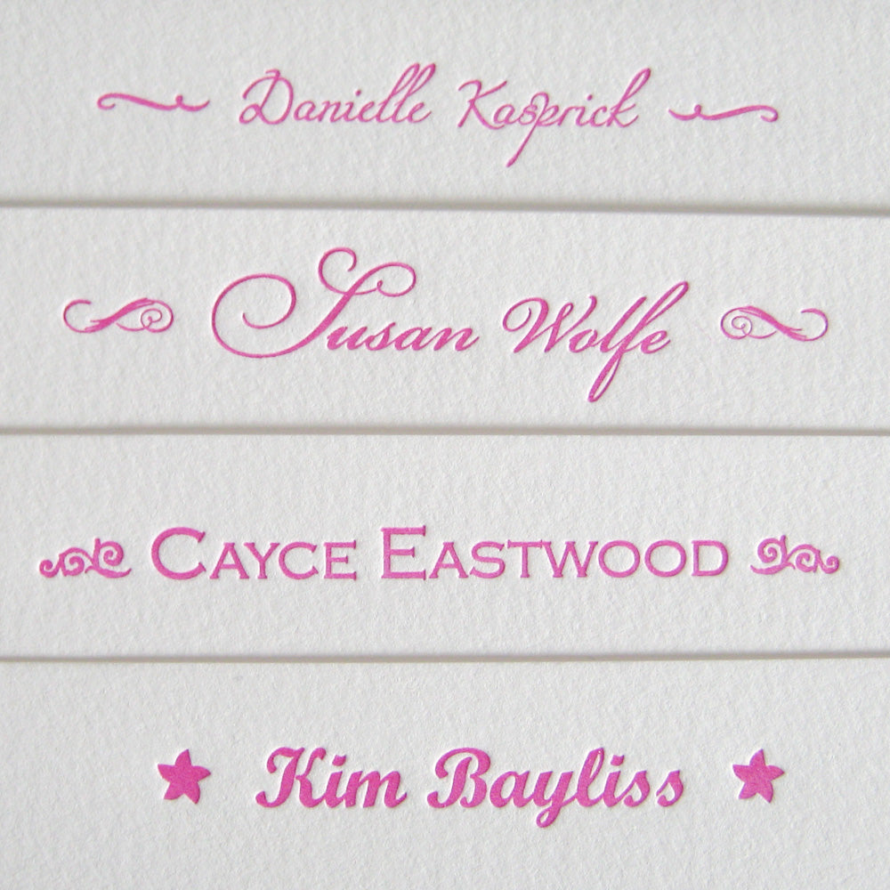 Custom Letterpress Notecards