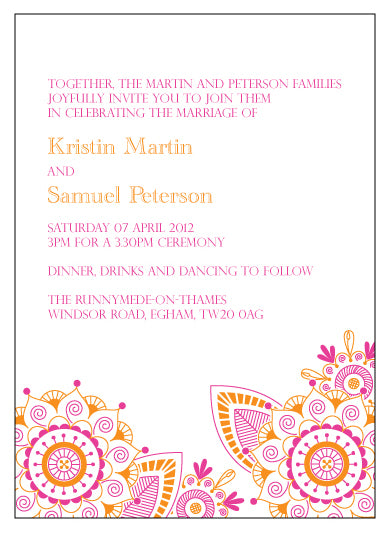 Mehndi Party Card Wording : A design day cerulean press