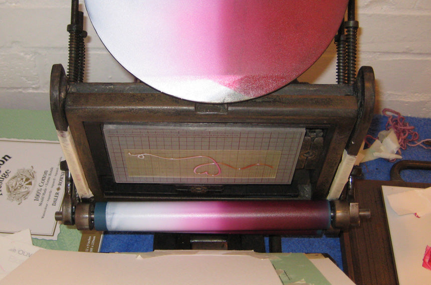 Letterpress split fountain printing