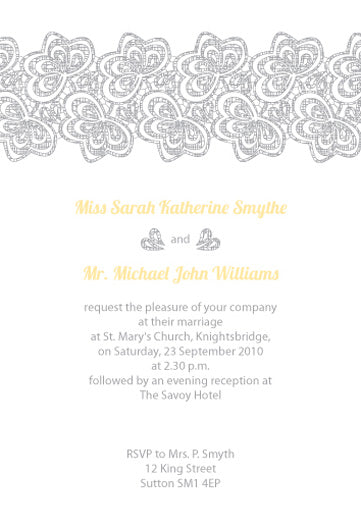 Letterpress Wedding Invitation Draft