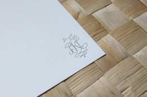 Letterpress monogram stationery by Cerulean Press