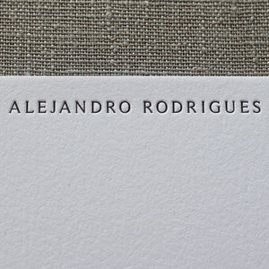 Personalised Letterpress note cards by Cerulean Press