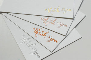 Hot foil personalised stationery