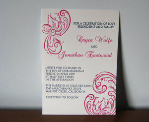 Letterpress Wedding Invitation - Mina - SAMPLE