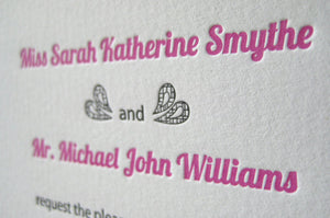 Letterpress Wedding Invitation - Merrill's Lace - SAMPLE