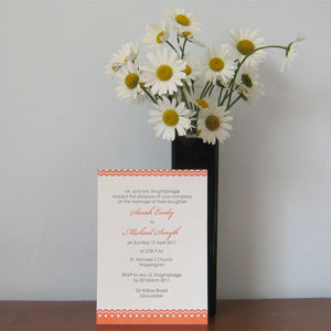 Letterpress Wedding Invitation - Scallops - SAMPLE