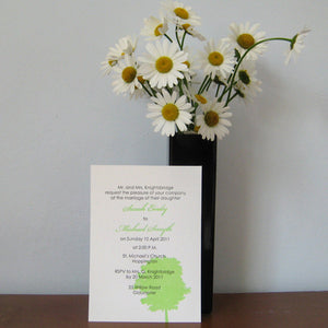 Letterpress Wedding Invitation - Tree - SAMPLE