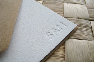 Custom Blind Impression Letterpress Stationery