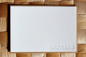 GRACIAS Letterpress Note Cards - Thank You - Set of 10