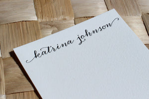 Anna Clara calligraphy letterpress stationery by Cerulean Press