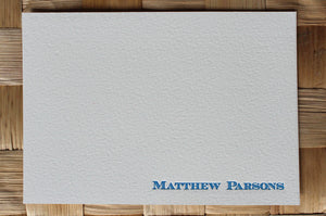 Men's Custom Letterpress Note Cards - Ecuyer