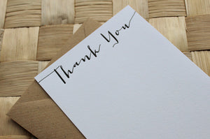 Letterpress Thank You Cards - Jacques Calligraphy