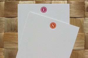 Modern Circle Monogram Stationery