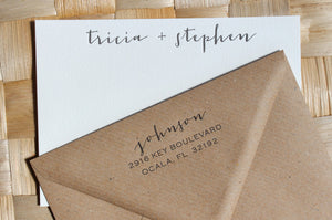 Jacques Couple's Stationery