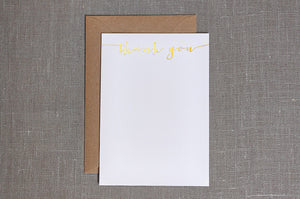Gold Foil Thank You Cards - Modern Calligraphy