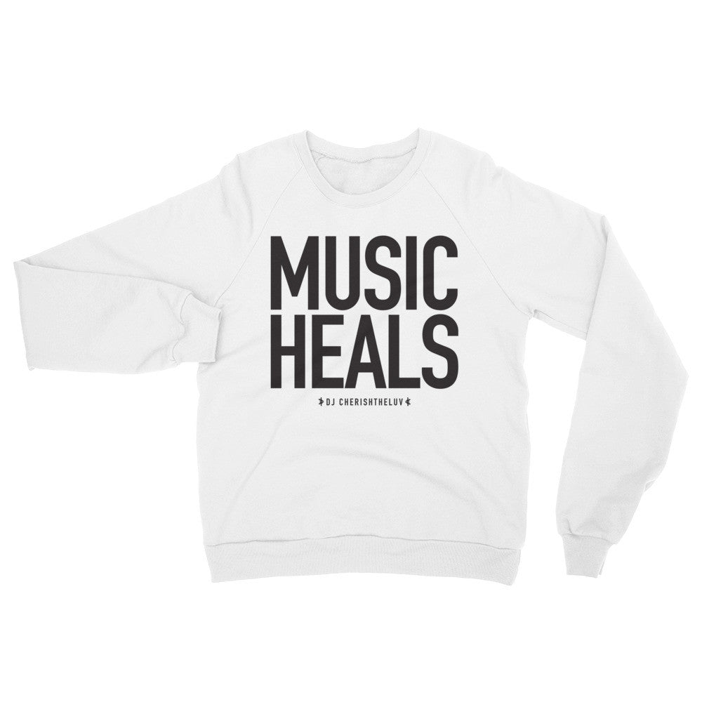 MUSIC HEALS Raglan sweater