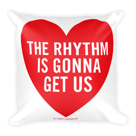 THE RHYTHM Square Pillow