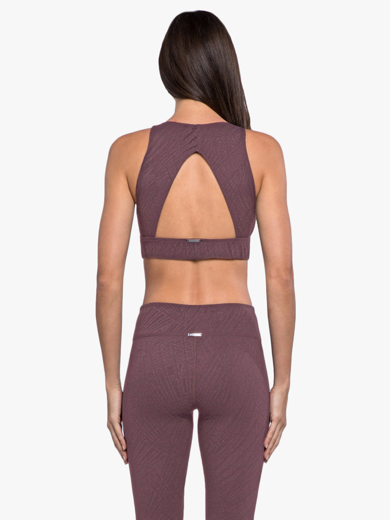 Zenith Maxen Sports Bra - Black Plum