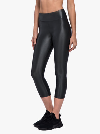 Lustrous High Rise Capri Legging - Lead