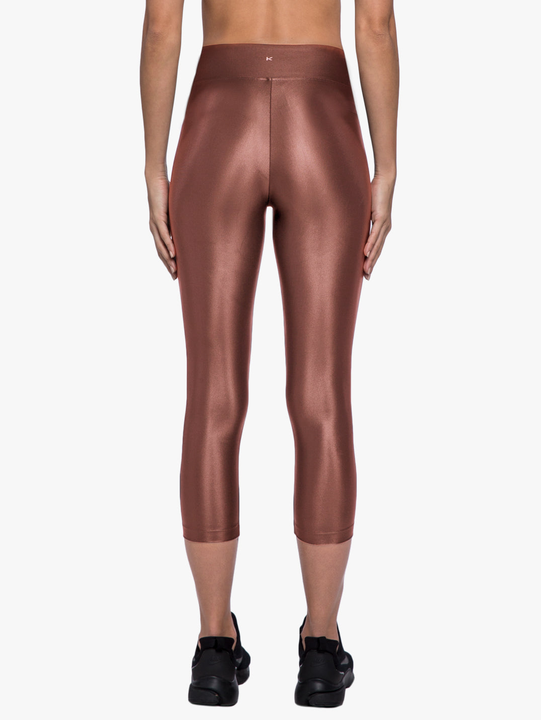 Lustrous High Rise Capri Legging - Copper