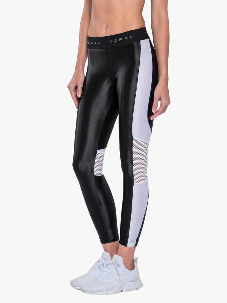 Emblem Cropped Legging - Black/White