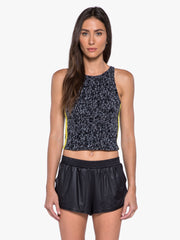 Nova Crop Top - Molecular Black/Black